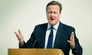David Cameron delivers a speech on the EU at the British Museum in London