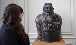 Paternal figure … a visitor looks at a bust of Rodin in the Musée Rodin.