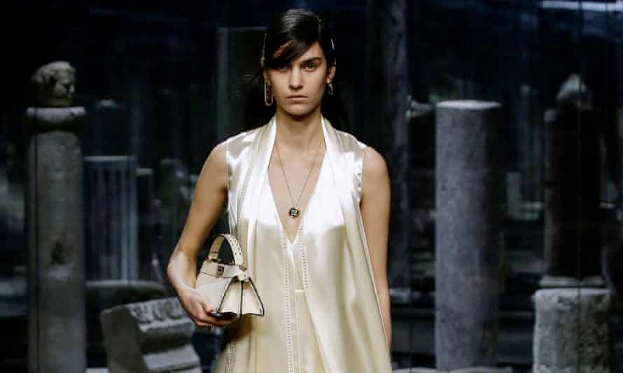 A model during the Fendi catwalk show