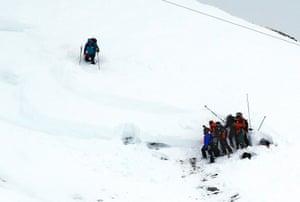 Les Deux Alpes, France: Members of a rescue team
