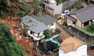 Rescuers search for survivors in Kitakyushu, Fukuoka after torrential rain triggered landslides in western Japan.