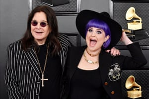 Ozzy Osbourne and Kelly Osbourne attend the 62nd Annual Grammy Awards.