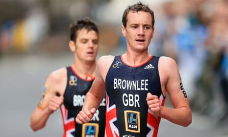 Alistair Brownlee (right) has not been named in the provisional Olympic squad although his brother Jonny (left) has
