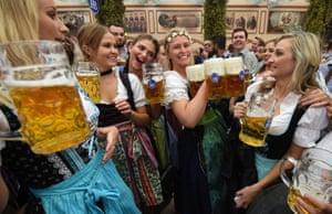 Festival goers sample the beer