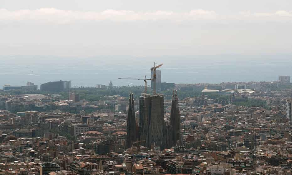 Air pollution in Barcelona in July 2019