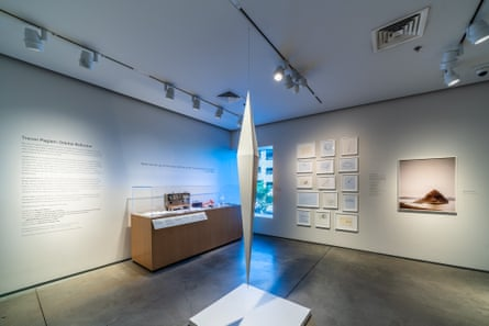 An installation featuring the work in progress at the Nevada Museum of Art.