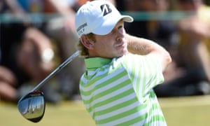 Brandt Snedeker in action during his final round at Chambers Bay