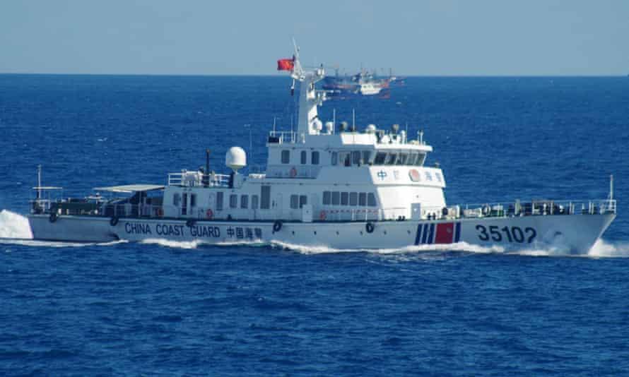 A Chinese coastguard vessel