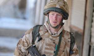 Prince Harry photographed in Afghanistan in 2008