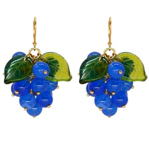 Handmade in Finland, Annele's designs pull from the local landscapes, featuring fruits and nature. These playful gems come in rich colours, and the grape shapes include blue Czech glass beads set in 18-carat gold-plated silver. Available in pierced and clip-on styles, and necklaces. Grape earrings, £120 annele.world
