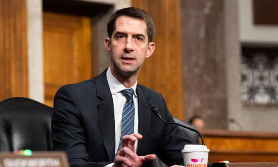 Tom Cotton said Democrats were 'crazy' and 'radical' to allow checks to be sent to prisoners.