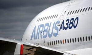 Airbus A380 on display at the Farnborough International Airshow