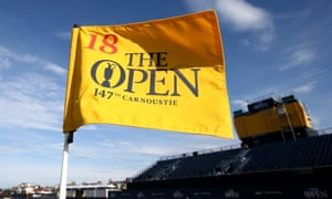 The 18th flag at Carnoustie flutters in the breeze