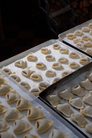 More tortelli, made by chef Paolo De Martino and Emma Lantosca of Campania & Jones and their team at Campania & Jones.