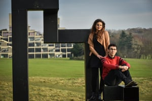 Enana AlAssaf with her husband on the UEA campus.