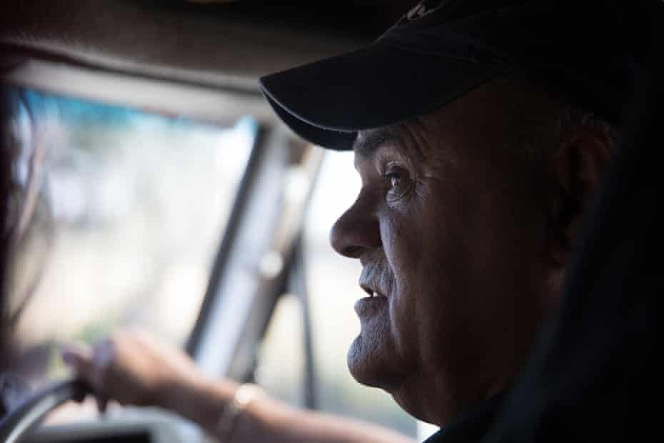 """It's been a long, long time"". Driving into Elliston with Wirangu elder Jack Johncock"