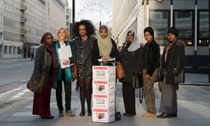Ali (third from left) delivering a petition against FGM with her fellow campaigners to Michael Gove in 2014.