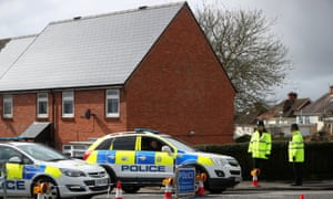 The men don't know if they went near the Skripal home, which was cordened off after the attack.