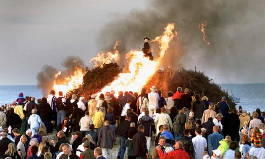 Skt Hans celebrations in Skagen, Denmark