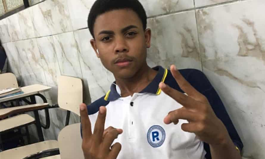 A family photograph of João Pedro Matos Pinto, 14, who was killed during a botched police raid in Rio de Janeiro on 18 May.
