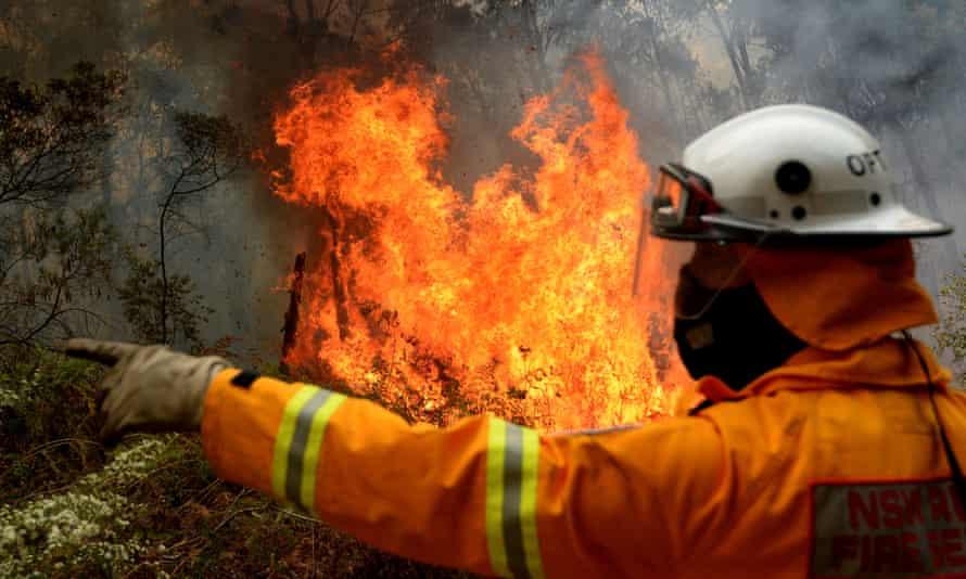 Firefighter during a backburn