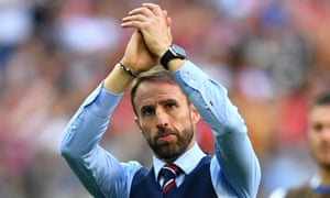 World Cup - Third Place Play Off - Belgium v England<br>Soccer Football - World Cup - Third Place Play Off - Belgium v England - Saint Petersburg Stadium, Saint Petersburg, Russia - July 14, 2018  England manager Gareth Southgate applauds fans after the match   REUTERS/Dylan Martinez
