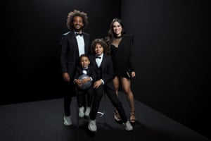 Real Madrid's Marcelo with his family.