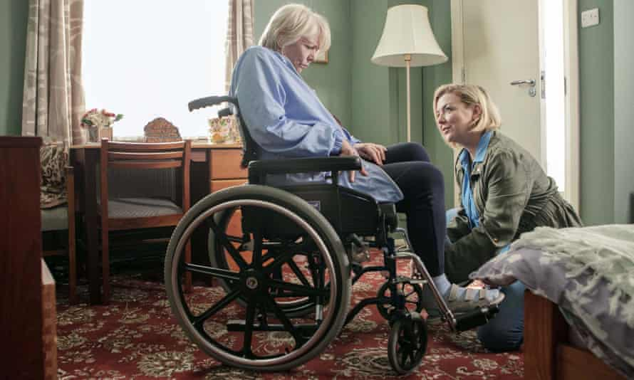 Sheridan Smith as Jenny, right, looking after her mother Mary, played by Alison Steadman, in the drama Care.