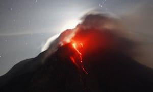 Mount Sinabung erupts in Indonesia, June 2016.