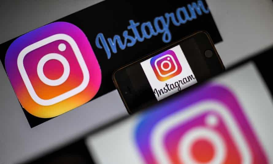 logos of US social network Instagram