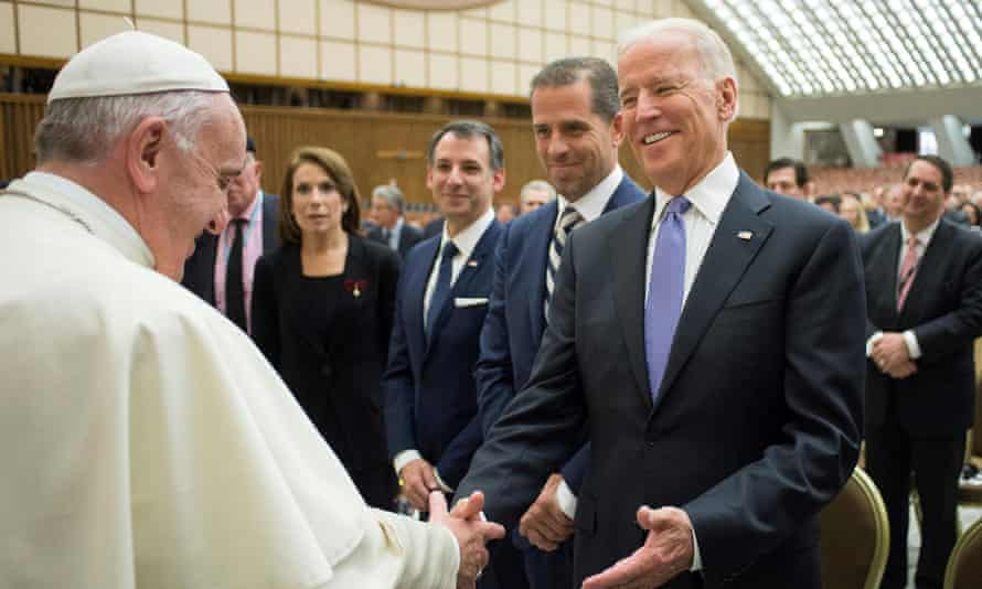 Then vice-president Biden meeting with Pope Francis in April 2016.