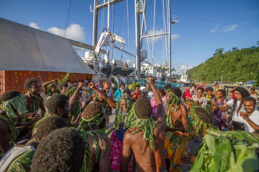 Les communautés impactées par le climat du Vanuatu, de Tuvalu, de Kiribati, de Fidji, des îles Salomon et des Philippines ont participé à la COP 21.