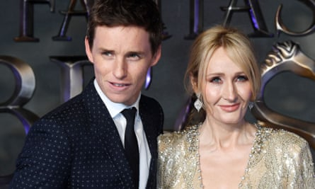 Eddie Redmayne and JK Rowling at the premiere of Fantastic Beasts and Where to Find Them in 2016.