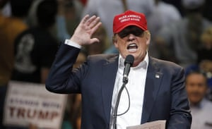 Donald Trump speaks during a campaign rally in Tucson, Arizona.