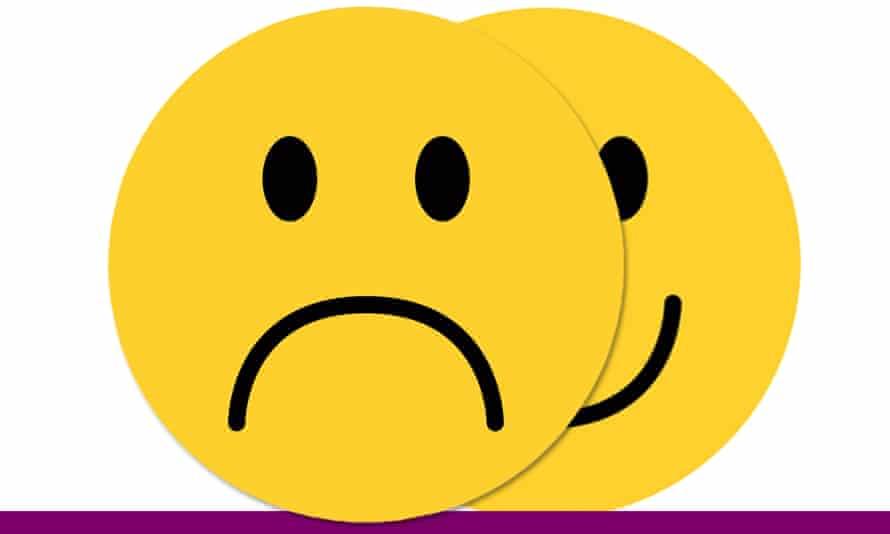 Two sad emoticon faces