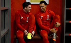 Trent Alexander-Arnold (right) and Andy Robertson are two of Liverpool's most potent attacking weapons.