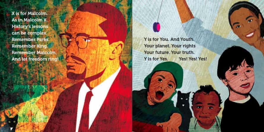 A spread from A is for Activist by Innosanto Nagara