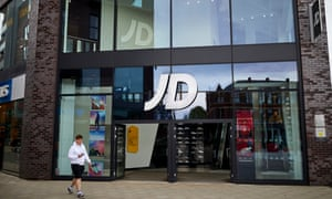 A JD Sports store in Bury, Greater Manchester.