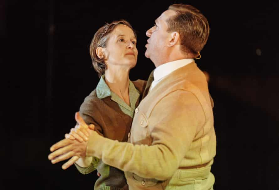 Catherine Cusack as Lil and David Birrell as Fred in The Shadow Factory.