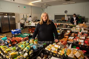 Louise Casey, a former government homelessness adviser, photographed at a food bank in Kentish Town, north London, as part of an interview for the Observer.
