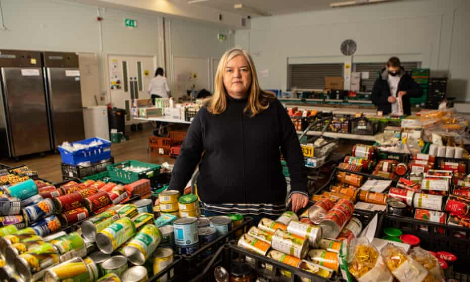 Louise Casey at the food bank based at the Queen's Crescent Community Association in Kentish Town, north London.