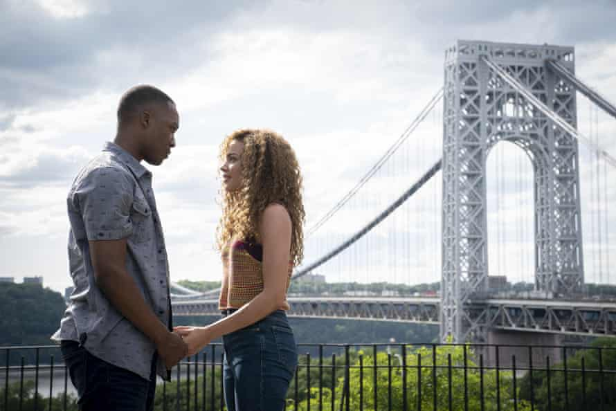 Corey Hawkins and Leslie Grace in In the Heights.