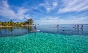 Paddleboarding, Belize