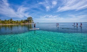 SUP (Stand-Up Paddleboarding), Belize