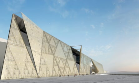 Artist's rendering of how Giza's Grand Egyptian Museum will look once completed.