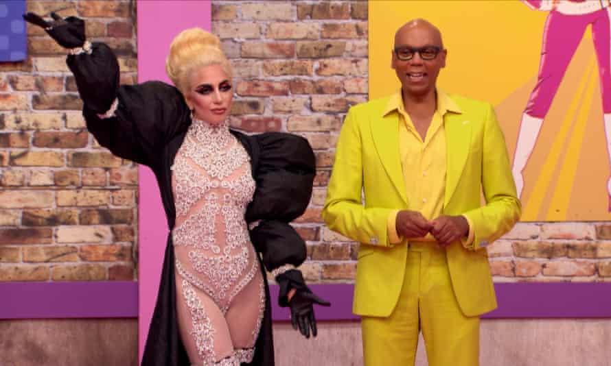RuPaul with Lady Gaga on Drag Race.