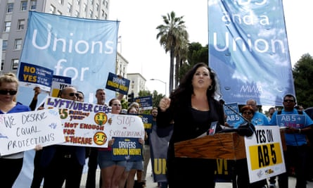 'Through protests, rallies, and group trips to Sacramento, labor platform workers and their allies made clear that they needed the same individual rights everyone else got – and maybe more.'