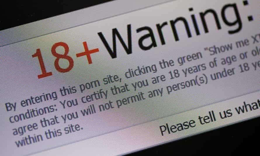 Porn Website only 18+ Warning