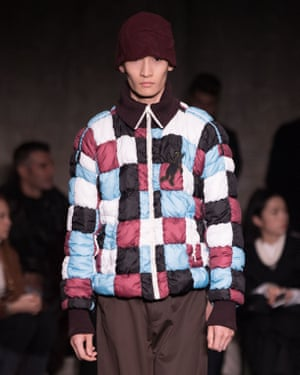 Quilted jacket at Marni