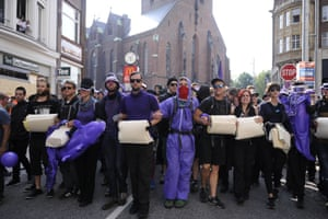 Demonstrators on the streets of Hamburg on Friday morning, the first day of the G20 summit